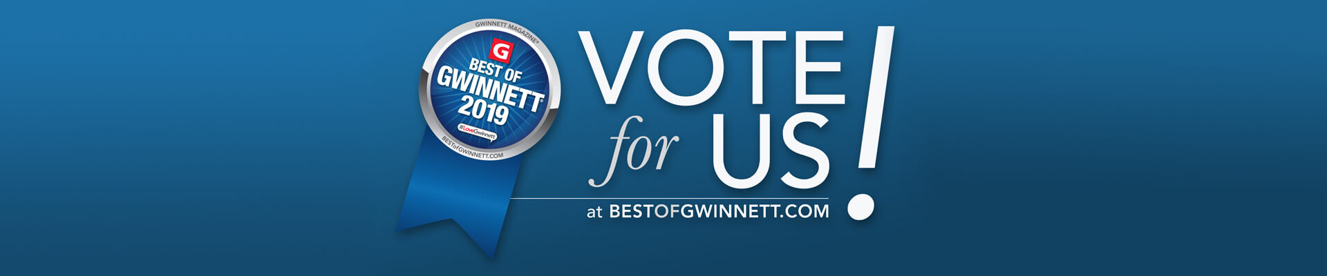 vote for us banner best of gwinnet